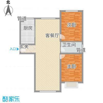 胜源・滨河新城127.80㎡d户型2室2厅1卫1厨