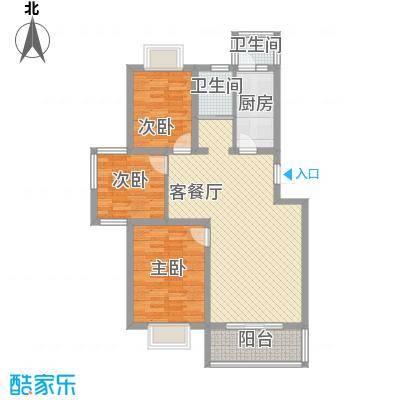 明珠万福家园111.00㎡g-1户型3室2厅1卫1厨