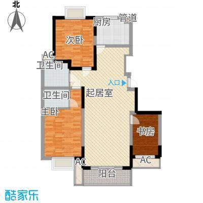 万润阳光丽景141.00㎡W/R户型3室2厅2卫1厨