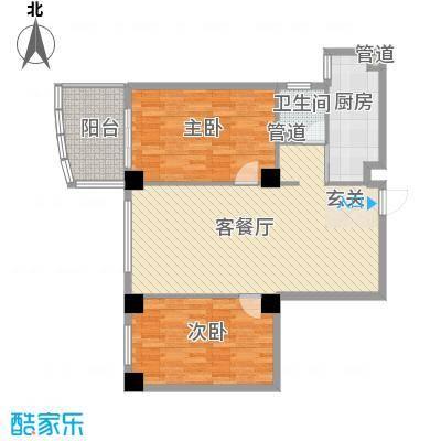 康鹏大厦118.13㎡D户型2室2厅1卫1厨