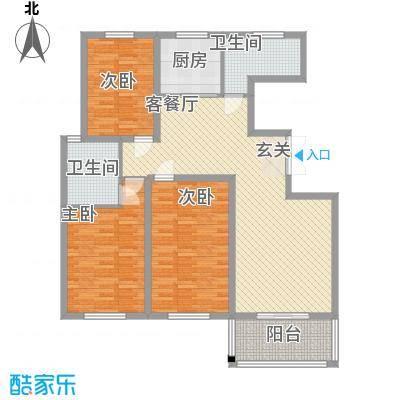 弘达名筑144.38㎡C户型3室2厅2卫1厨
