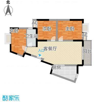 万润阳光丽景112.00㎡L/Q/M()户型3室2厅1卫1厨