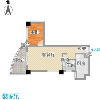 康鹏大厦7.26㎡C户型1室1厅1卫1厨