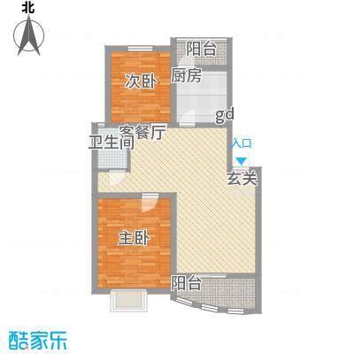 天惠爱丁堡公馆3.00㎡D户型2室2厅1卫1厨