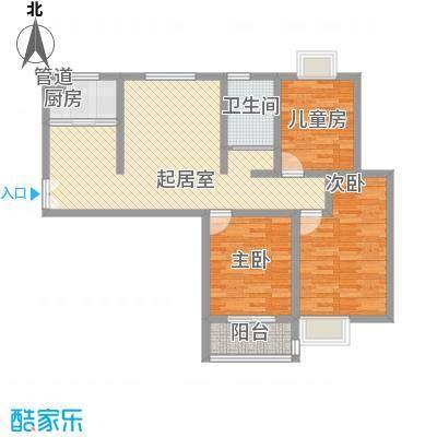 金色家园二期26#小高层中间户K户型