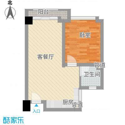 尚城国际55.73㎡F户型1室1厅1卫