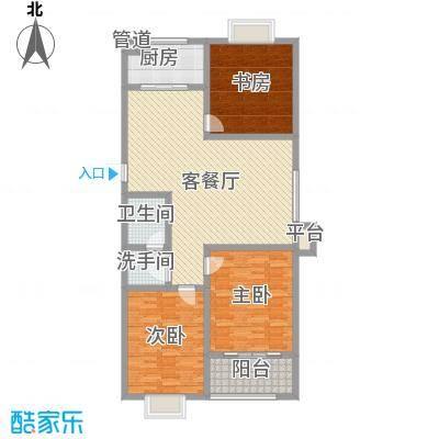 宝龙花园123.00㎡7#-E户型3室1厅1卫1厨