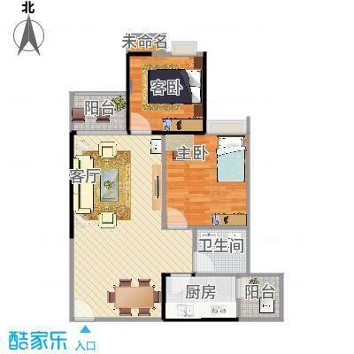 鑫宏.锦绣新城76.17m2两室两厅一卫