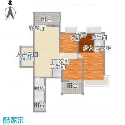 广汇东湖城137.46㎡2#奇数层户型3室2厅2卫