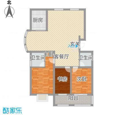 润东花园135.80㎡1号楼标准层A户型