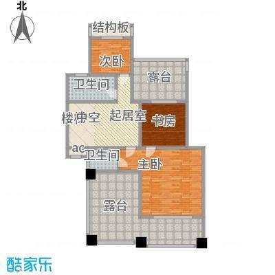 锦绣新天地234.51㎡12#复式上层户型5室2厅4卫1厨