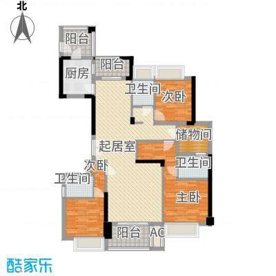 融耀江滨御景142.00㎡1#2#3#楼B2户型3室2厅3卫1厨