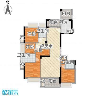 融耀江滨御景144.00㎡1#2#3#楼B1户型4室2厅3卫1厨