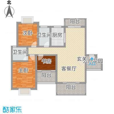 名扬鑫城121.00㎡2#3#4#A2户型3室1厅2卫1厨