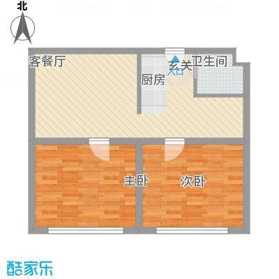 井冈江山68.00㎡一户型2室2厅1卫1厨