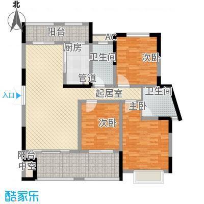 宣佳世纪嘉园13.56㎡04#F3户型3室2厅2卫1厨