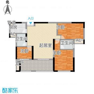 宣佳世纪嘉园118.73㎡01、08#E2户型3室2厅1卫1厨