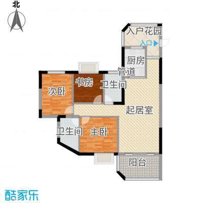 嘉园小区户型3室2厅1卫1厨