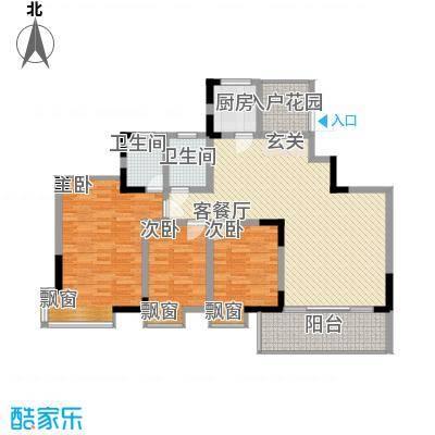 龙湾上和城131.00㎡1#-8#C5户型3室2厅2卫1厨
