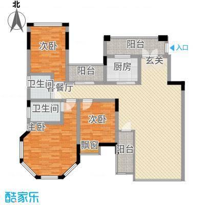 龙湾上和城146.00㎡1#-8#C8户型3室2厅2卫1厨