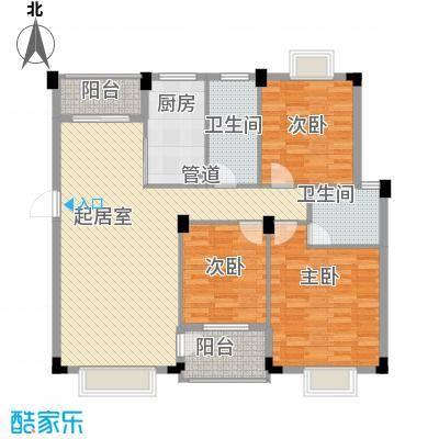 康源绿洲康城11.00㎡3#C户型3室2厅2卫1厨