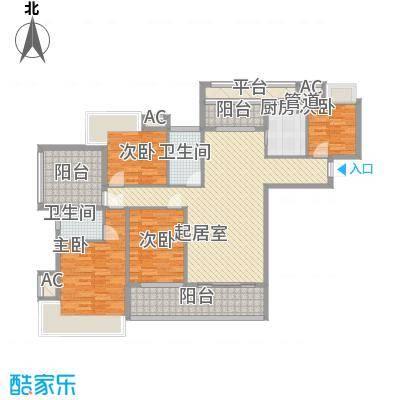 东方红广场142.00㎡C1户型4室2厅2卫1厨