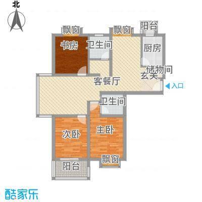 东方・海逸豪园147.22㎡一期C#楼C1户型3室2厅2卫