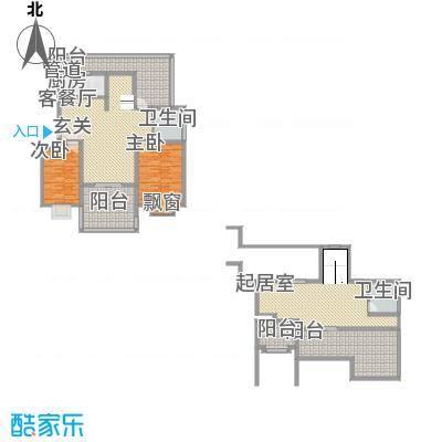 新高・西城国际144.30㎡G1-1户型3室2厅1卫