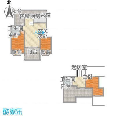 新高・西城国际153.76㎡G1户型2室2厅1卫