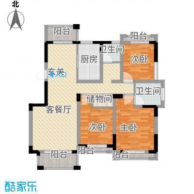 瓯龙・圣芭芭拉125.17㎡D2户型3室2厅2卫