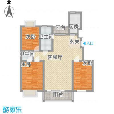 华林・灌南春天131.14㎡B户型3室2厅2卫