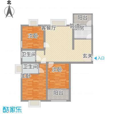 众兴・嘉城I户型3室2厅2卫1厨