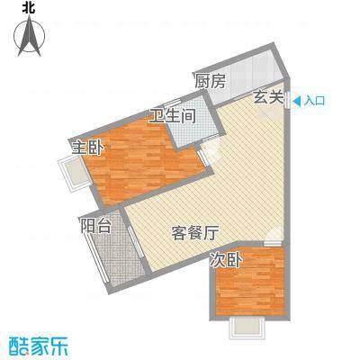 众兴・嘉城D户型1室1厅1卫1厨