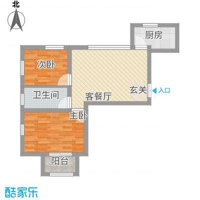 中茵名都4#18层A户型2室2厅1卫1厨