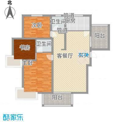 建院未来城132.00㎡D座G户型3室2厅2卫1厨
