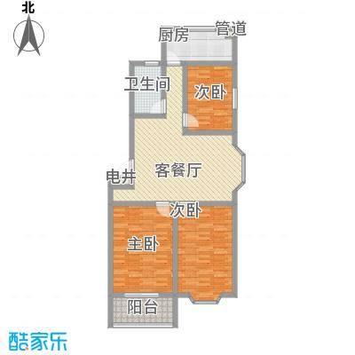 锦绣苑112.40㎡L户型3室2厅1卫1厨