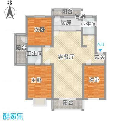 香江花园131.00㎡c6户型3室2厅2卫1厨