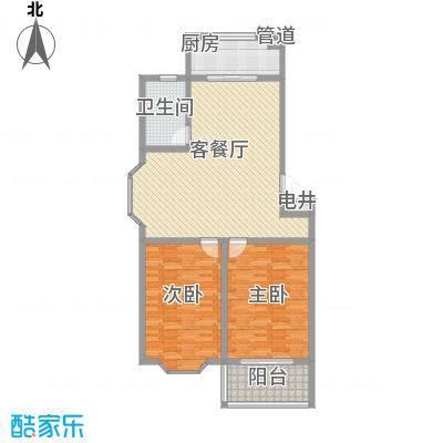 锦绣苑1.70㎡F户型2室2厅1卫1厨