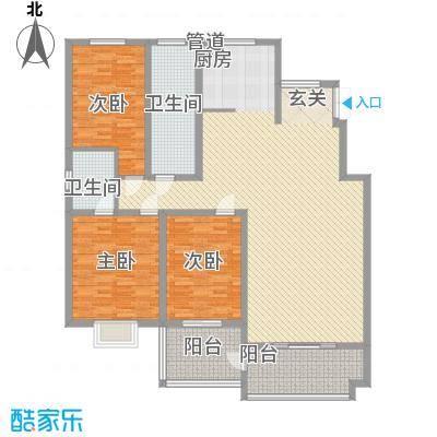 一品苑168.16㎡F户型3室2厅2卫1厨