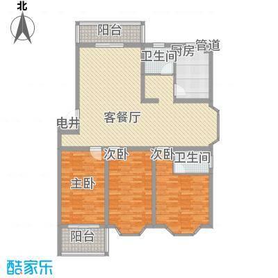 锦绣苑141.67㎡A1户型3室2厅1卫1厨