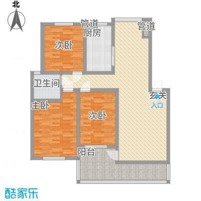 一品苑117.13㎡多层C户型3室2厅1卫1厨