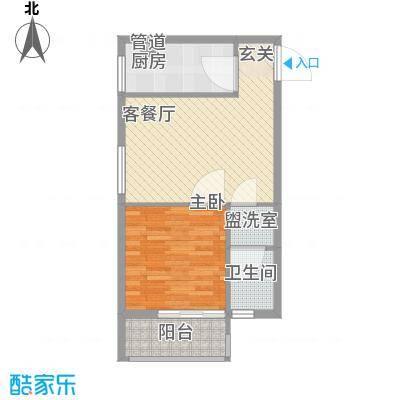 云达・世纪明珠64.00㎡C14户型1室1厅1卫1厨