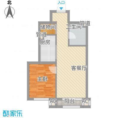 东亚世纪城・凯旋公元61.35㎡7户型1室1厅1卫1厨