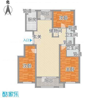 赵都华府133.22㎡M户型3室