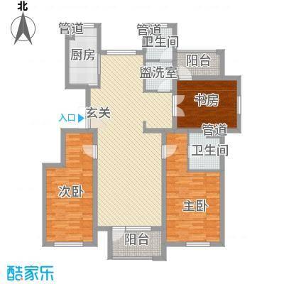 赵都华府134.00㎡L户型3室