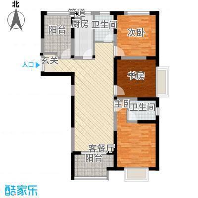 瀚林国际11.00㎡E户型4室2厅2卫1厨