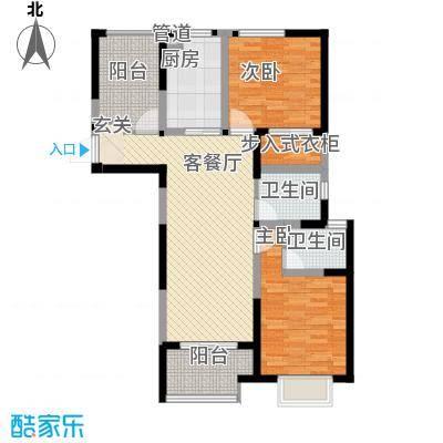 瀚林国际111.00㎡C户型3室2厅1卫1厨