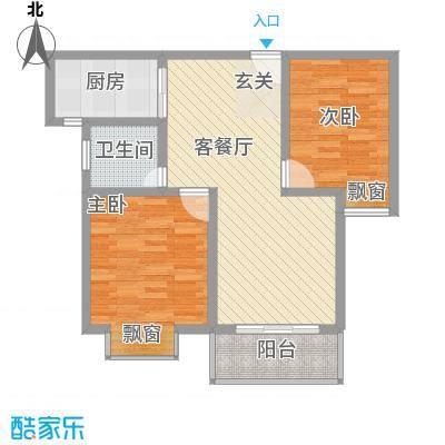 时代茗苑1#楼中间户D2户型