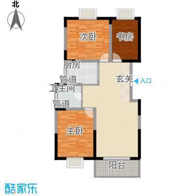 洋河梦都花园116.74㎡C1户型3室2厅2卫1厨