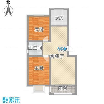 鑫大成・御龙湾85.50㎡A户型2室2厅1卫1厨